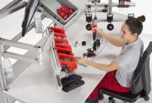 Photo of Asiento ergonómico en mesas de trabajo industriales